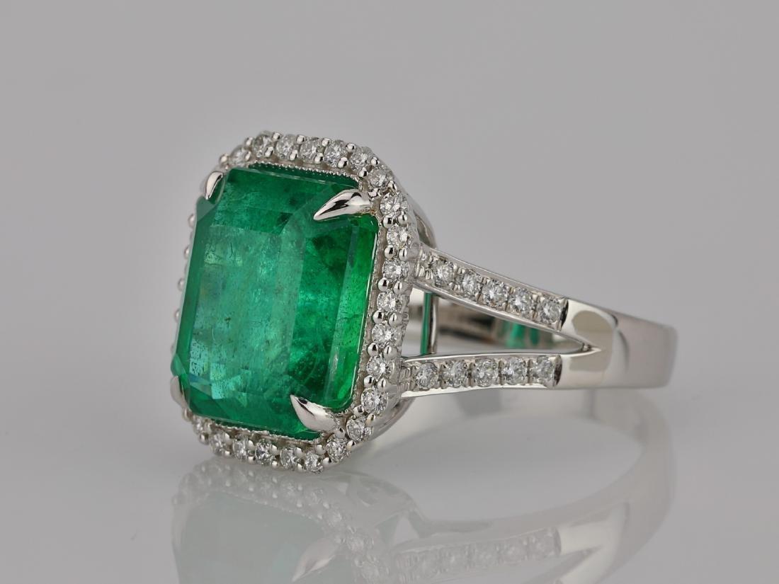 8.00ct Emerald, 0.75ctw Diamond & 18K Ring - 2