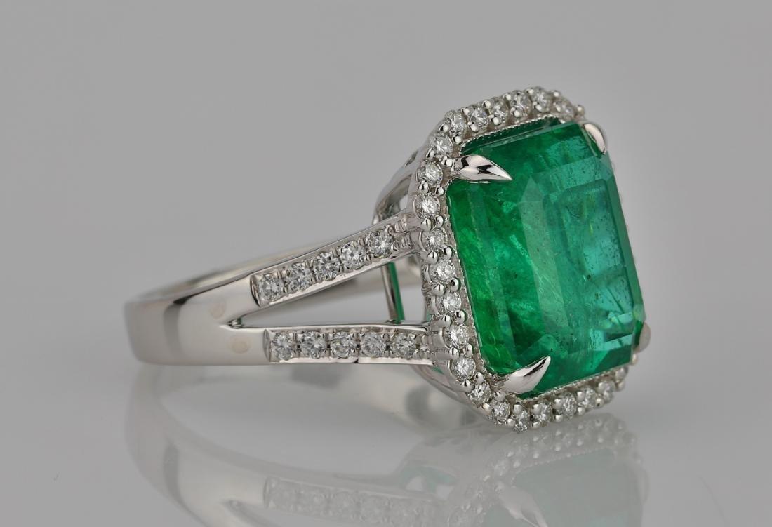 8.00ct Emerald, 0.75ctw Diamond & 18K Ring - 3