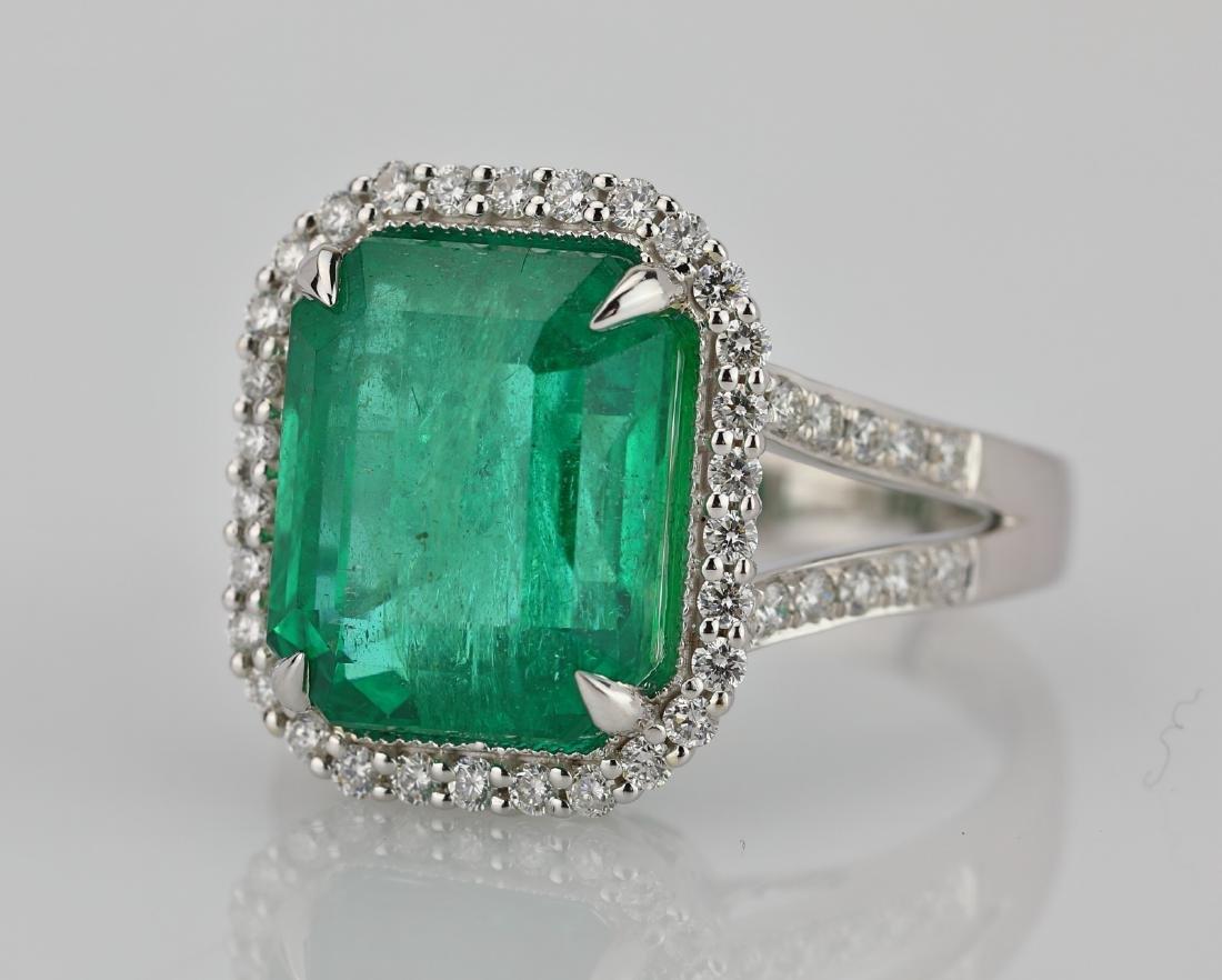 8.00ct Emerald, 0.75ctw Diamond & 18K Ring - 4
