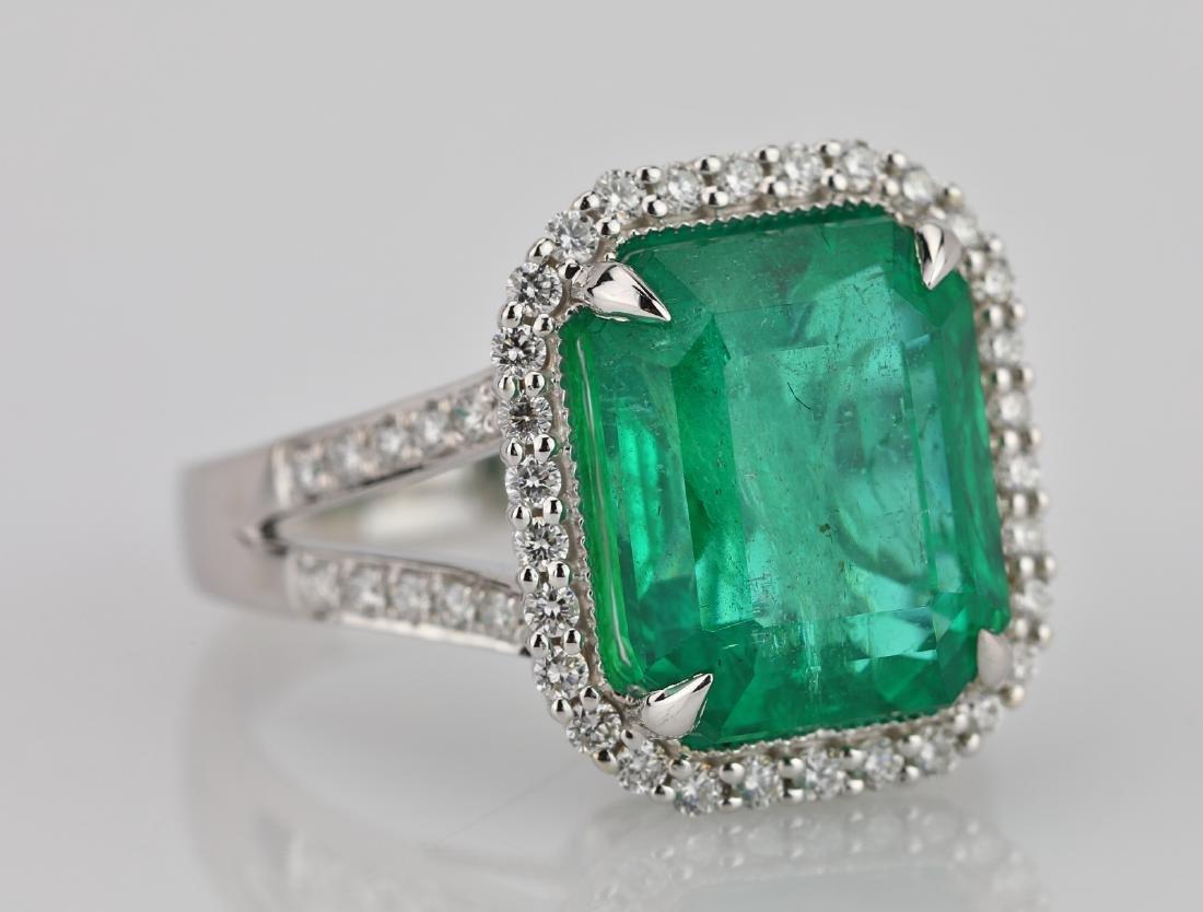 8.00ct Emerald, 0.75ctw Diamond & 18K Ring - 5