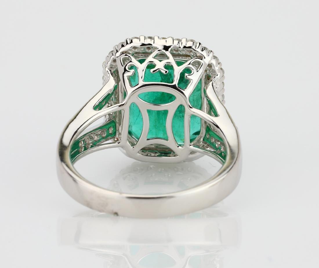 8.00ct Emerald, 0.75ctw Diamond & 18K Ring - 6