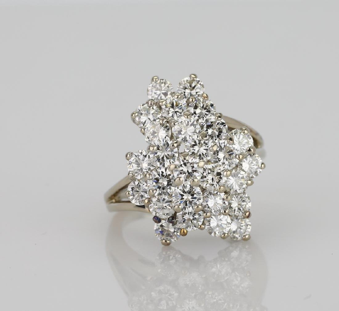 4.05ctw VS2-SI1/G-H Diamond & 14K Cocktail Ring
