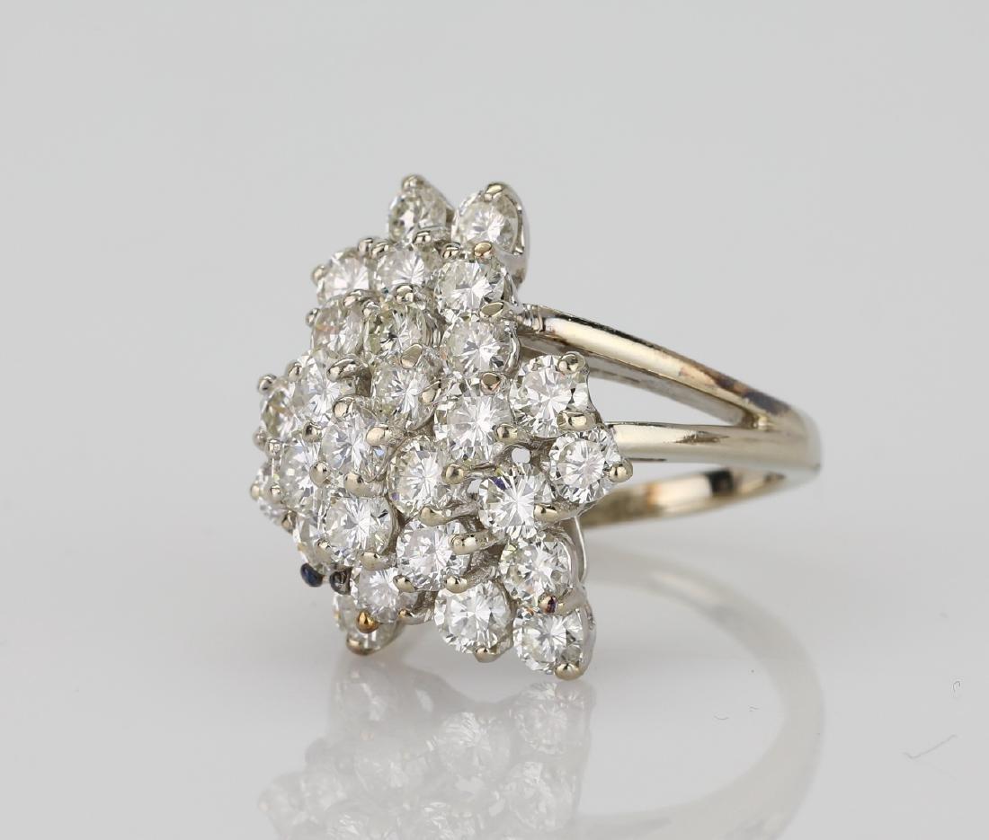 4.05ctw VS2-SI1/G-H Diamond & 14K Cocktail Ring - 2