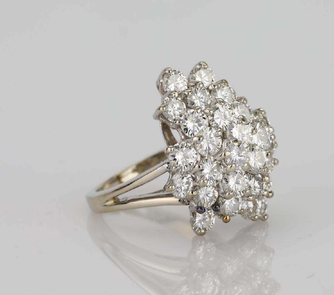 4.05ctw VS2-SI1/G-H Diamond & 14K Cocktail Ring - 3