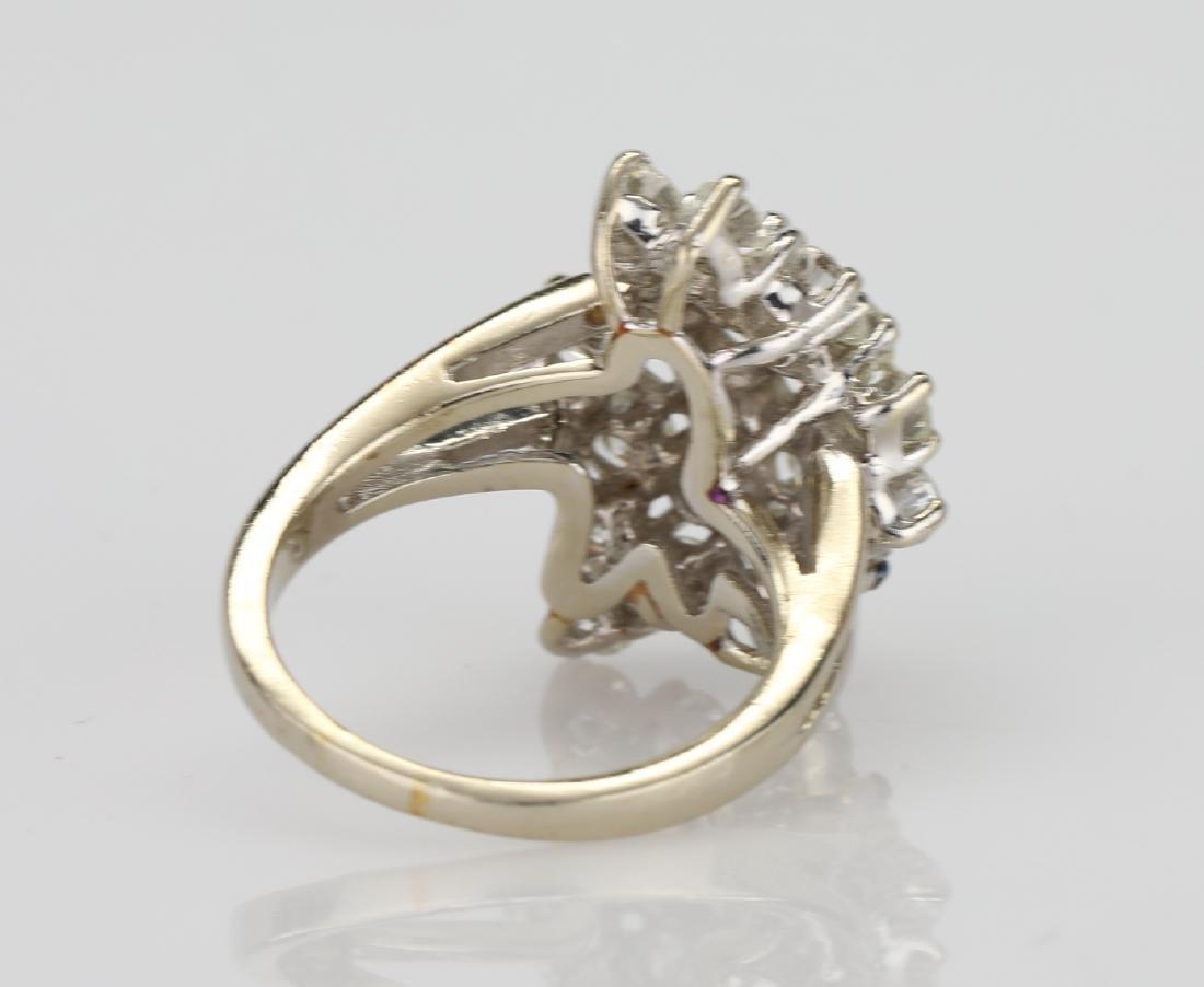 4.05ctw VS2-SI1/G-H Diamond & 14K Cocktail Ring - 4