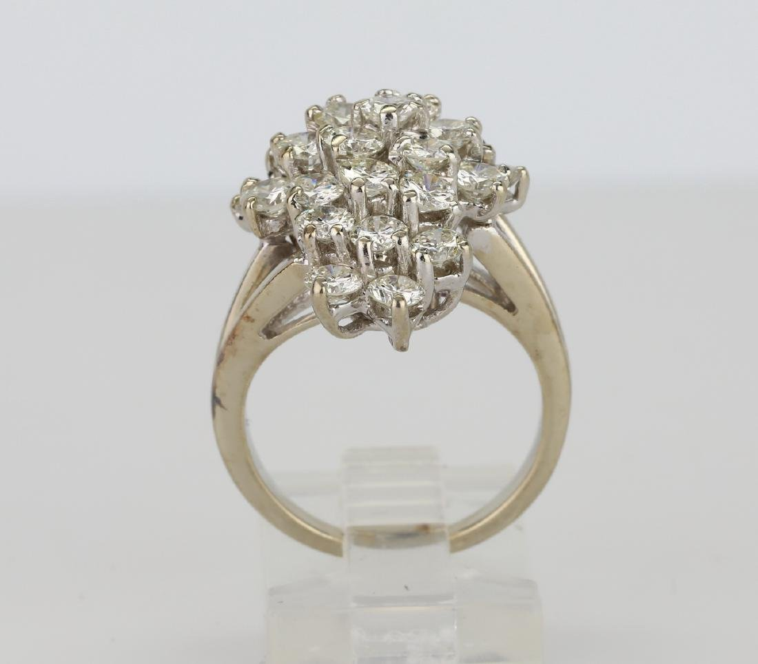 4.05ctw VS2-SI1/G-H Diamond & 14K Cocktail Ring - 5