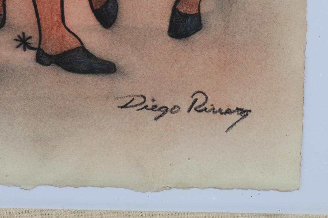 """Diego Rivera 1930s """"Emiliano Zapata Estudio"""" W/COA - 5"""