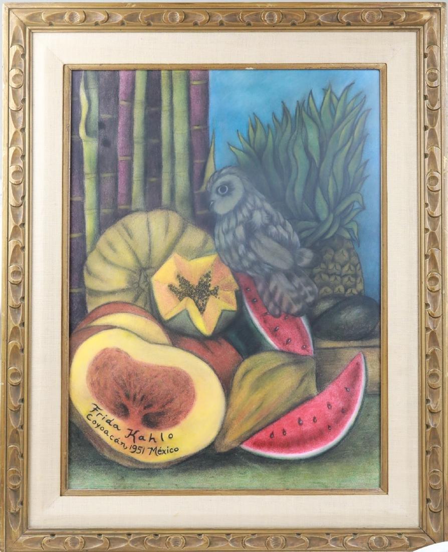 "Frida Kahlo 1951 ""Naturaleza Viva"" Bodegón W/COA"