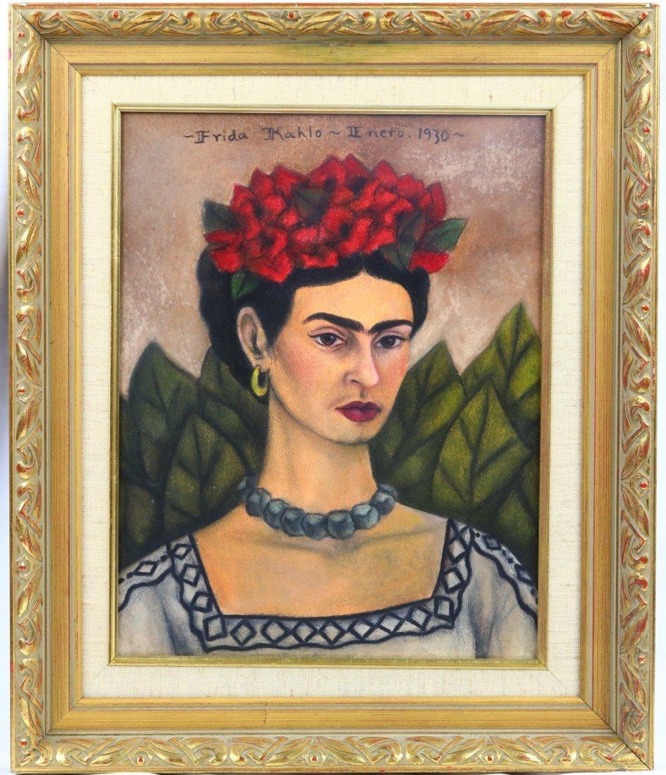 Frida Kahlo 1930 Untitled Autorretrato W/COA