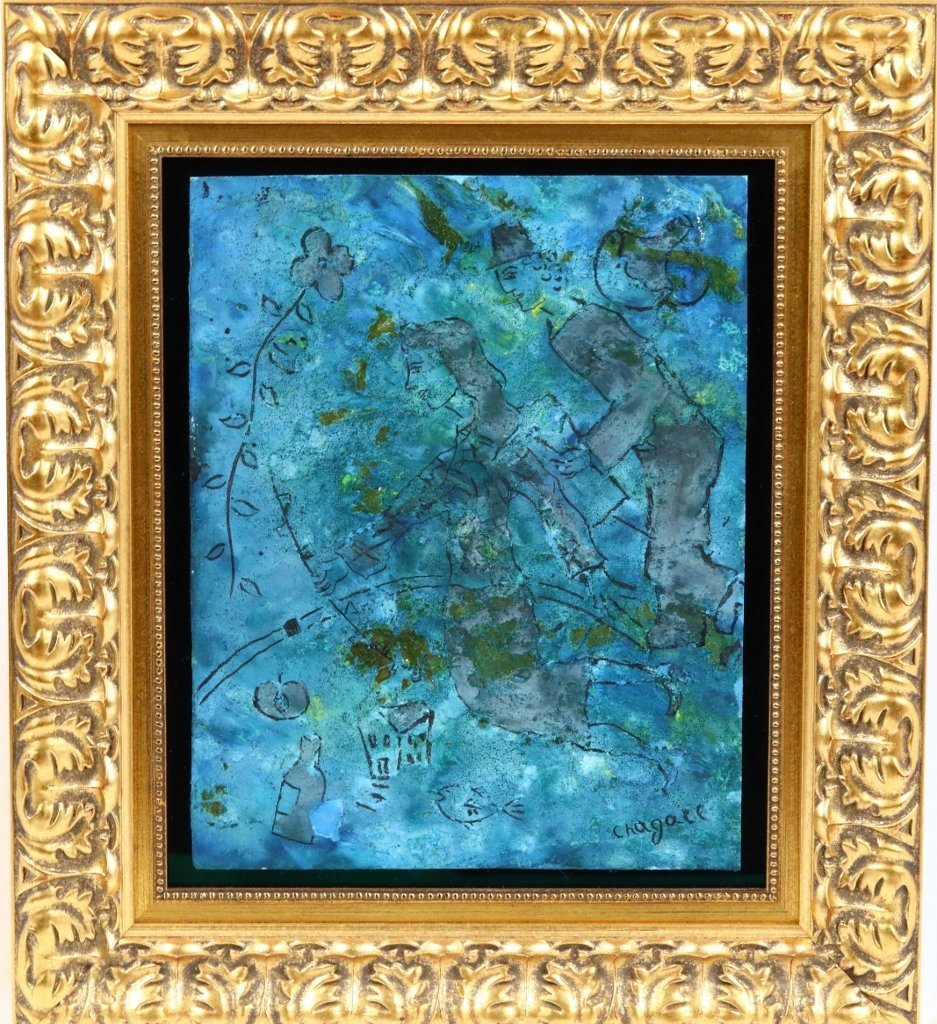 Marc Chagall Mixed Media & Plaster Painting