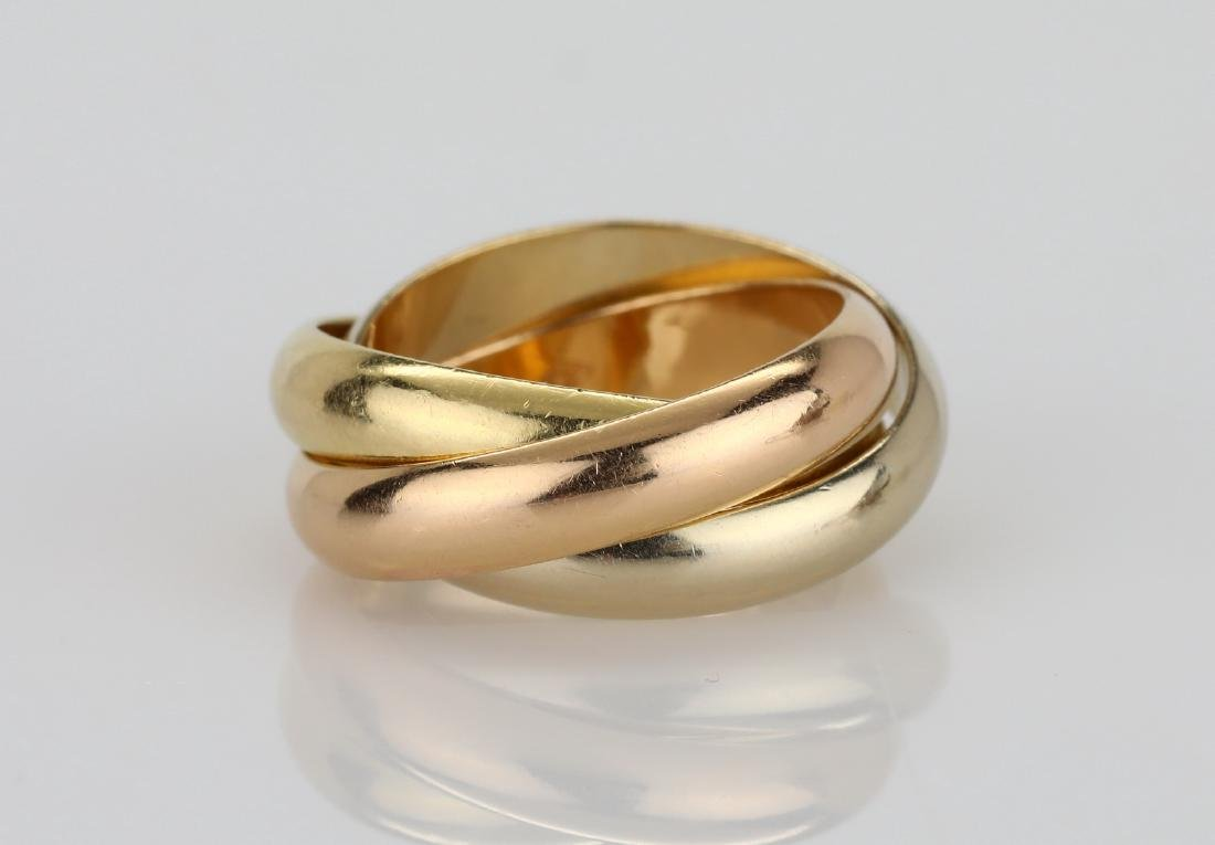 Cartier 1997 18K Tri-Color Gold Trinity Ring