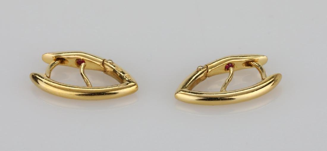 """Roberto Coin 18K 0.75"""" Pointed Hoop Earrings"""