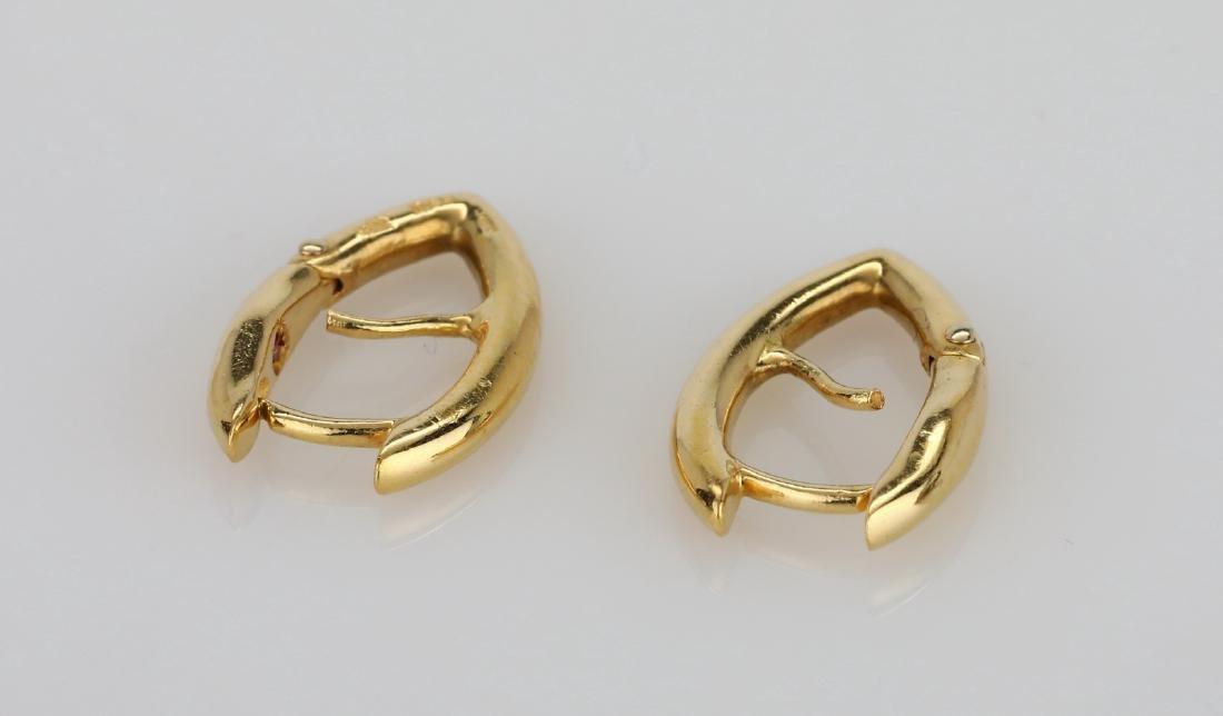 """Roberto Coin 18K 0.75"""" Pointed Hoop Earrings - 2"""
