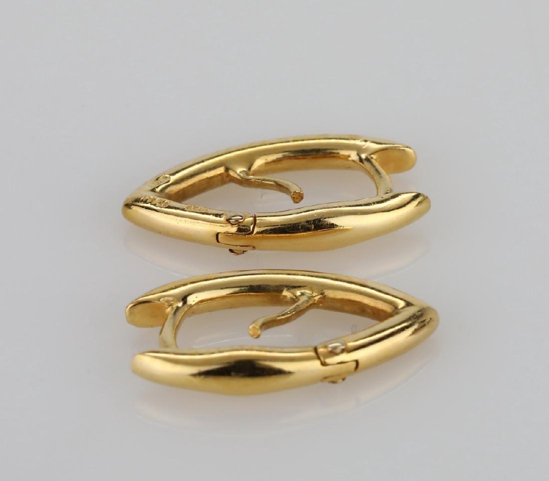 """Roberto Coin 18K 0.75"""" Pointed Hoop Earrings - 3"""