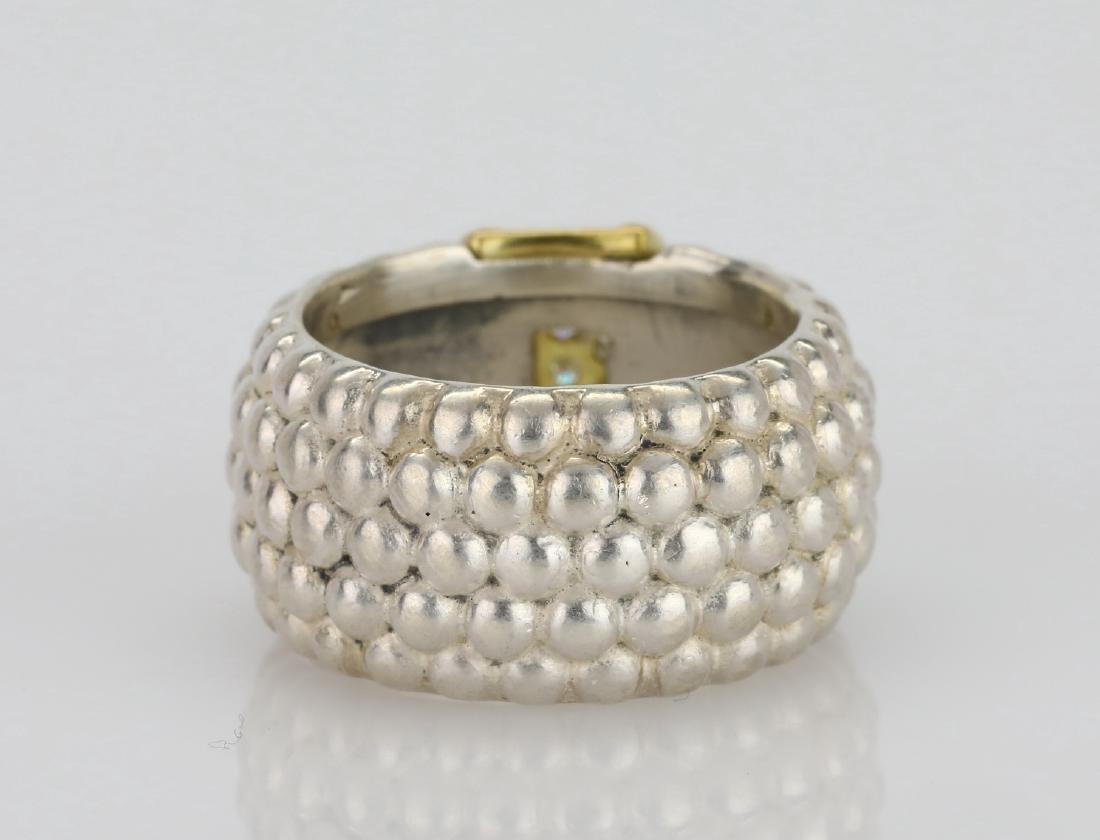 Lagos Caviar 18K & Sterling Ring W/Diamonds - 4