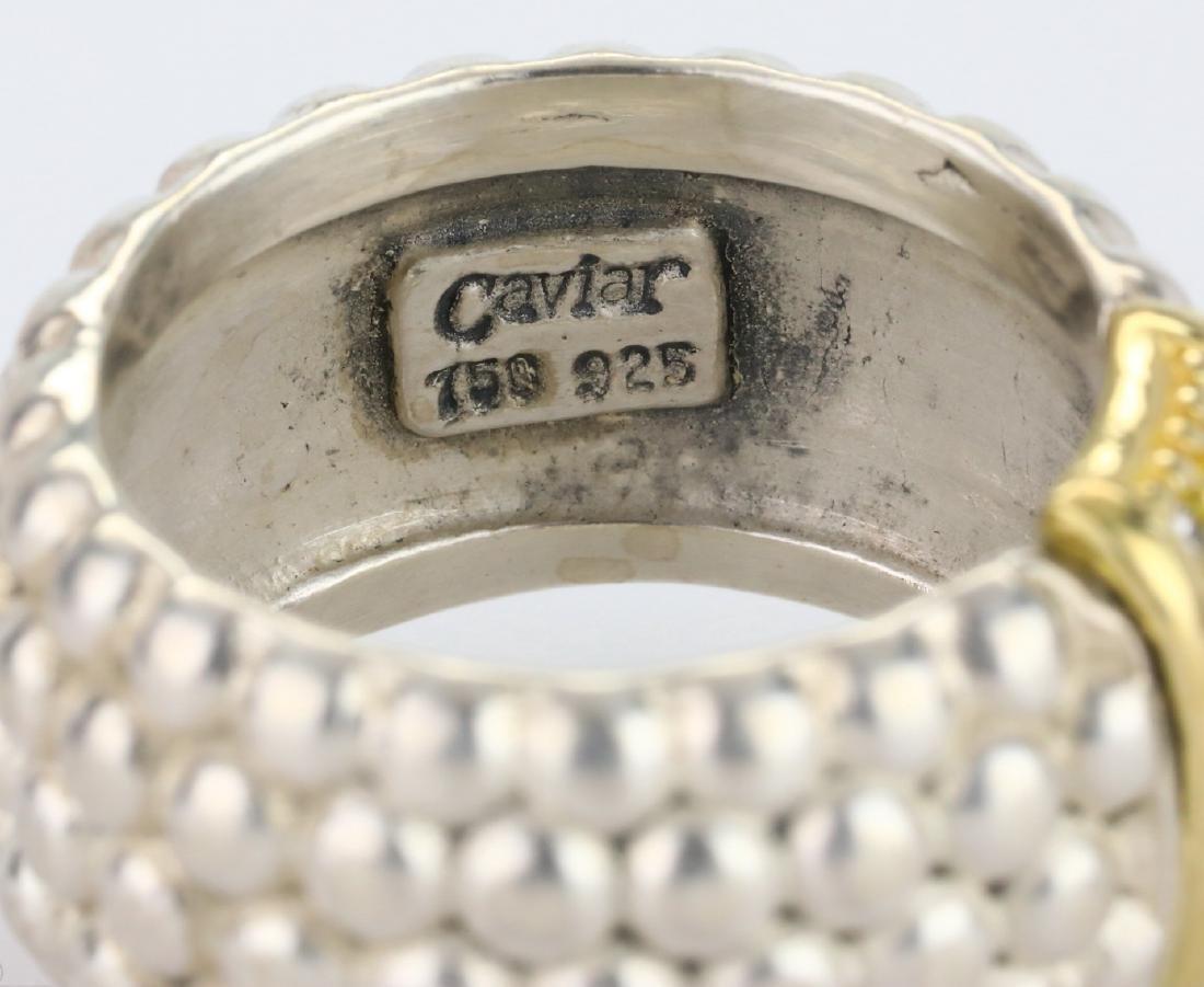 Lagos Caviar 18K & Sterling Ring W/Diamonds - 5