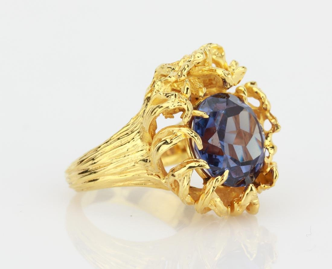6.25ct Color Change Fluorite 14K Yellow Gold Ring - 3