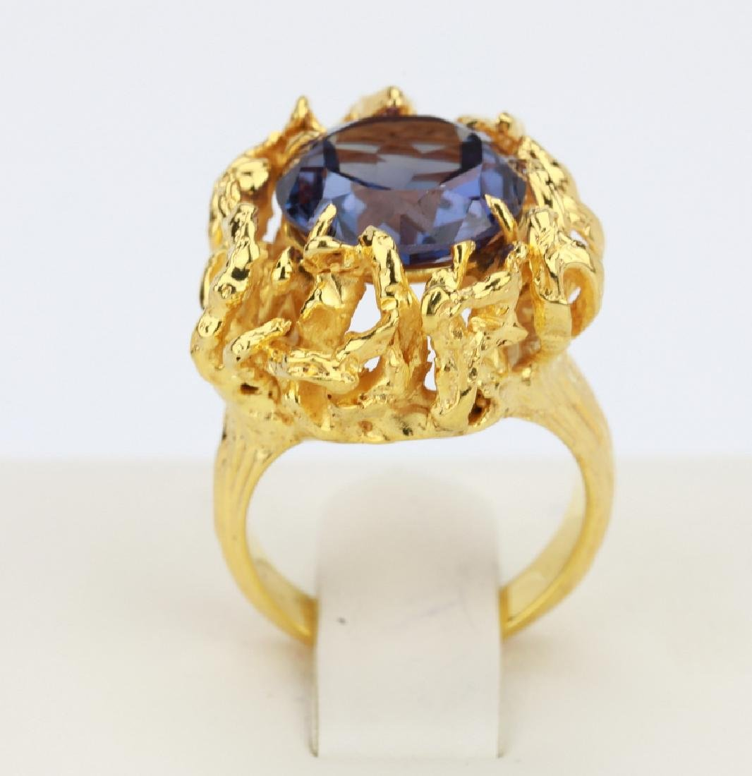 6.25ct Color Change Fluorite 14K Yellow Gold Ring - 5