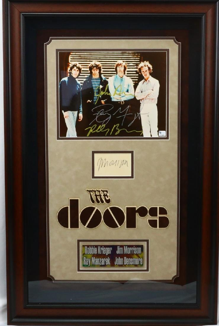 The Doors Autographed Photo & Morrison Signature