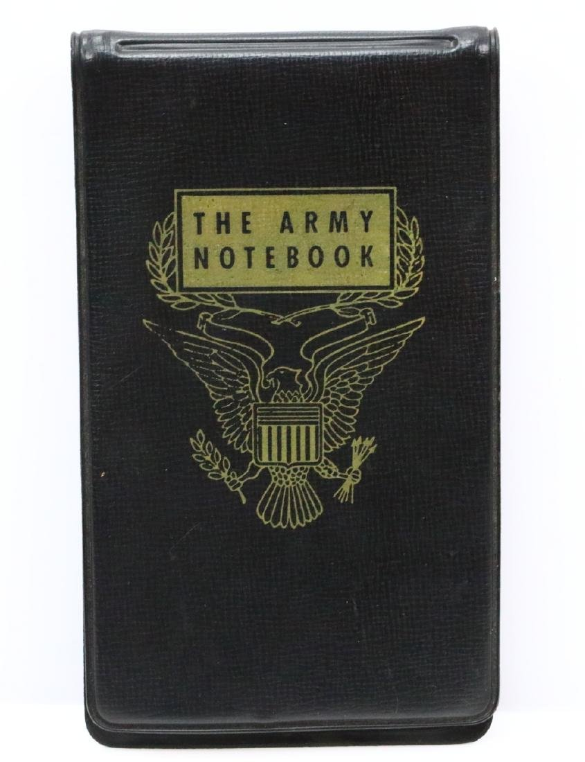 Elvis Presley Autographed Army Notebook Dated 1958