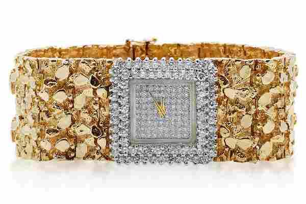 Liberace's 6.00ctw Diamond & 14K Watch W/COA