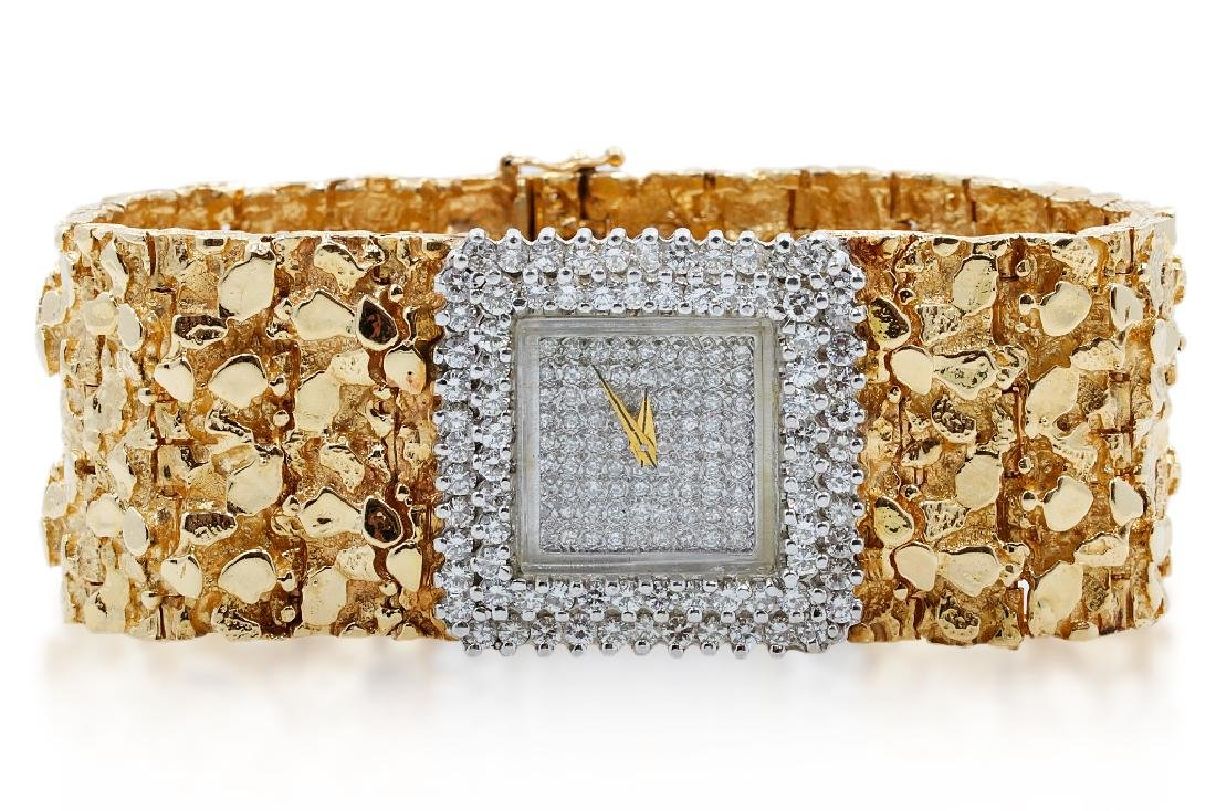 Liberace's 6.00ctw Diamond & 14K Watch W/COA