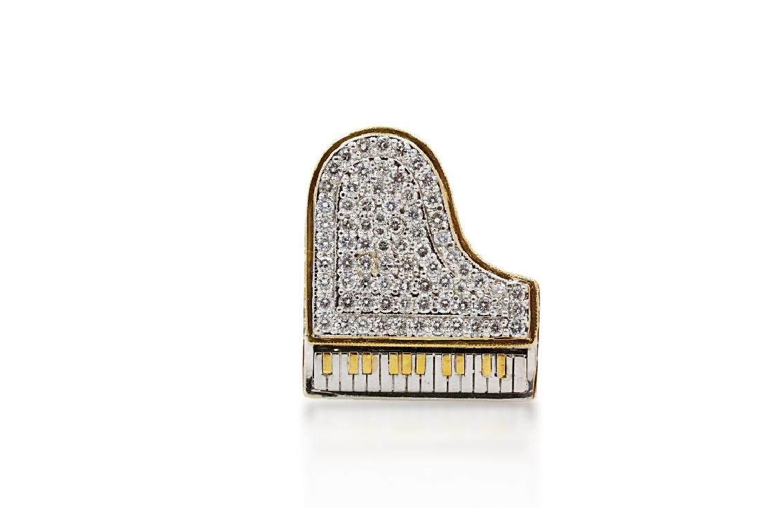 Liberace's 3.00ctw Diamond & 14K Piano Ring