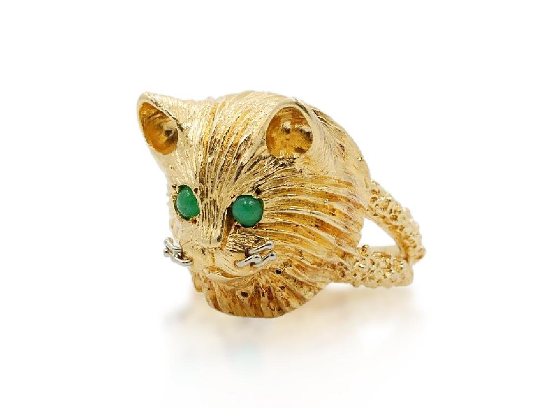 Liberace's 14K Cat Ring Purchased as Gift