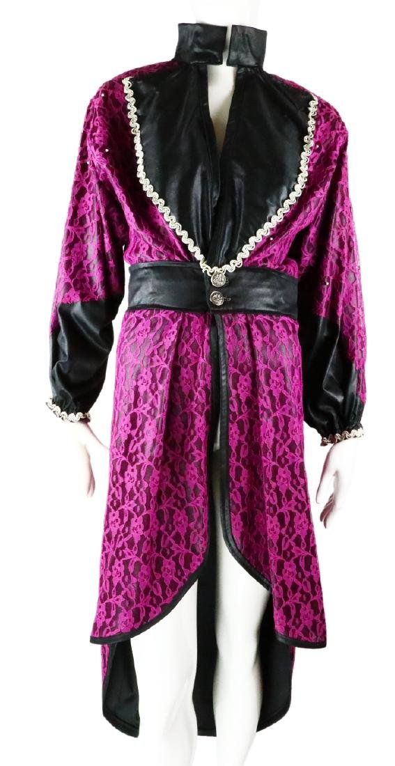"Prince ""Purple Rain"" Set Used Purple Lace Overcoat"