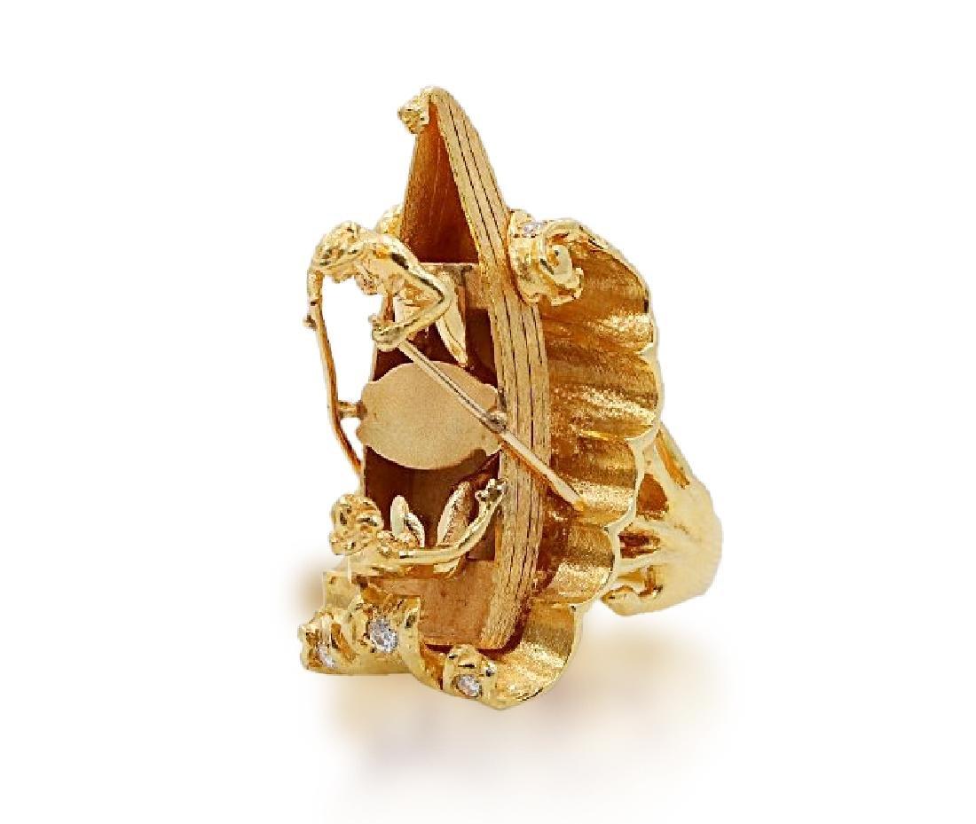 Sammy Davis Jr.'s 18K Sculptural Ring W/Diamonds