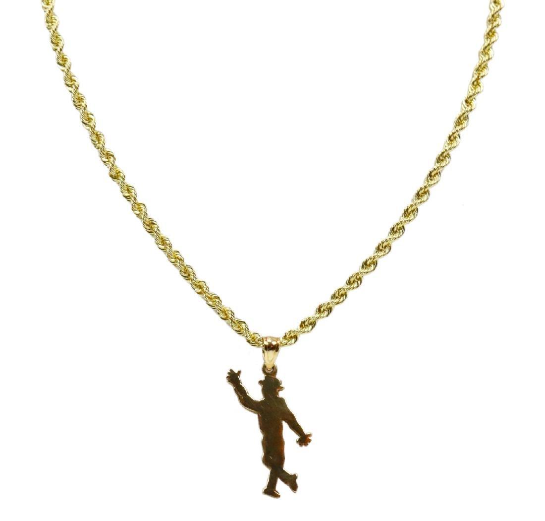"Sammy Davis Jr.'s 14K 30"" Silhouette Necklace"
