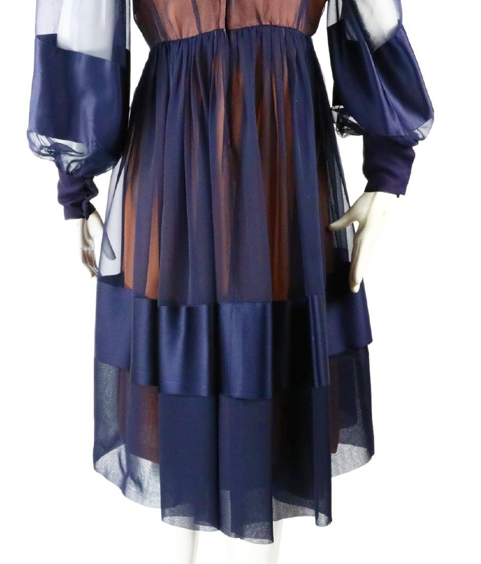 Elizabeth Taylor's Personally Owned Navy Dress - 12