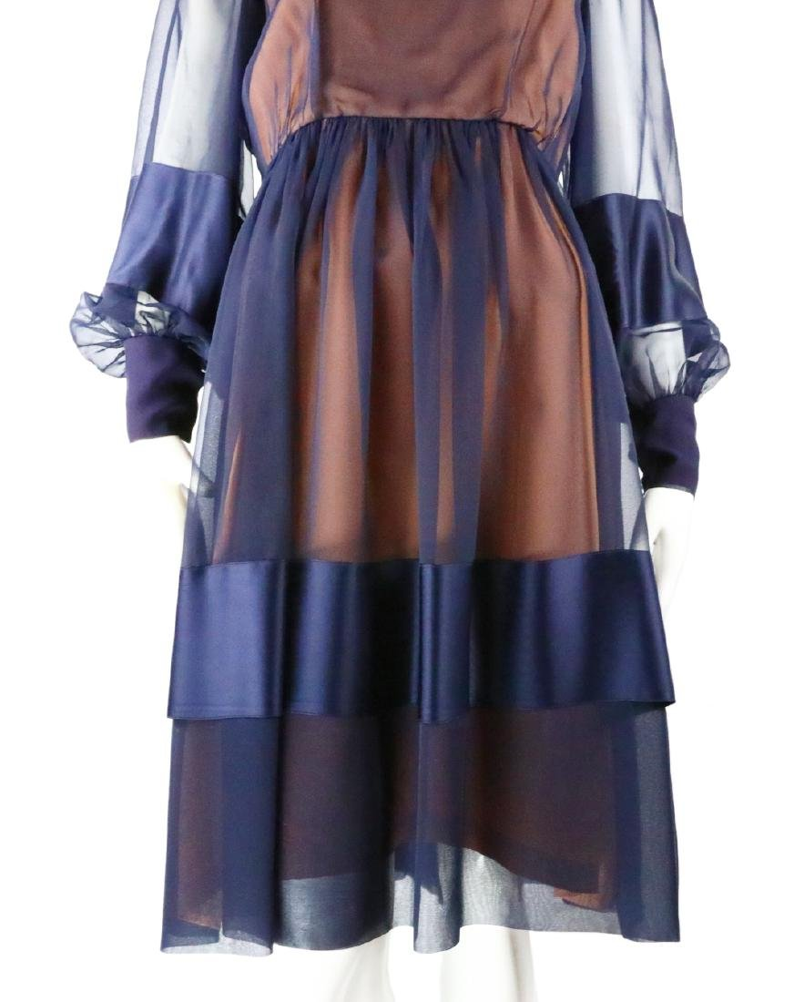 Elizabeth Taylor's Personally Owned Navy Dress - 3