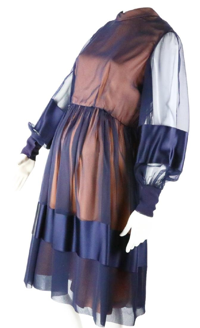 Elizabeth Taylor's Personally Owned Navy Dress - 4