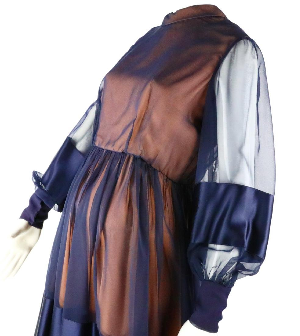 Elizabeth Taylor's Personally Owned Navy Dress - 5
