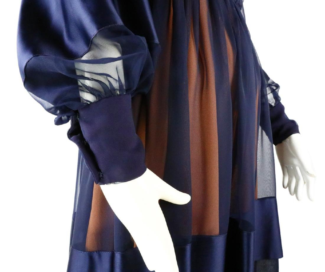 Elizabeth Taylor's Personally Owned Navy Dress - 9