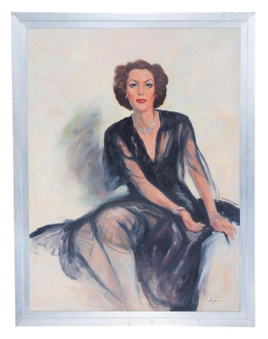 "Mommie Dearest Painting of ""Joan Crawford"""
