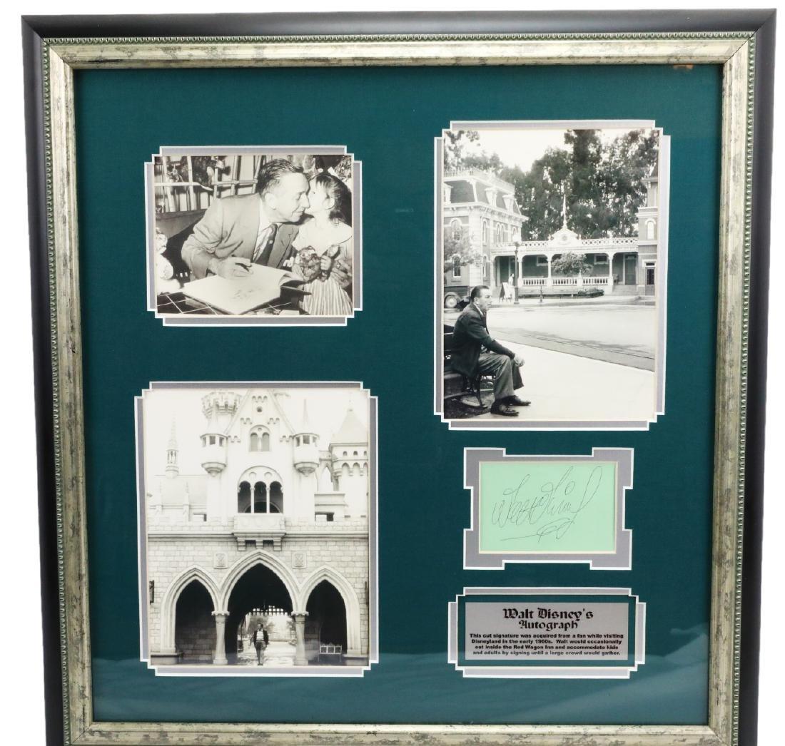 Walt Disney Autograph W/Vintage Photographs