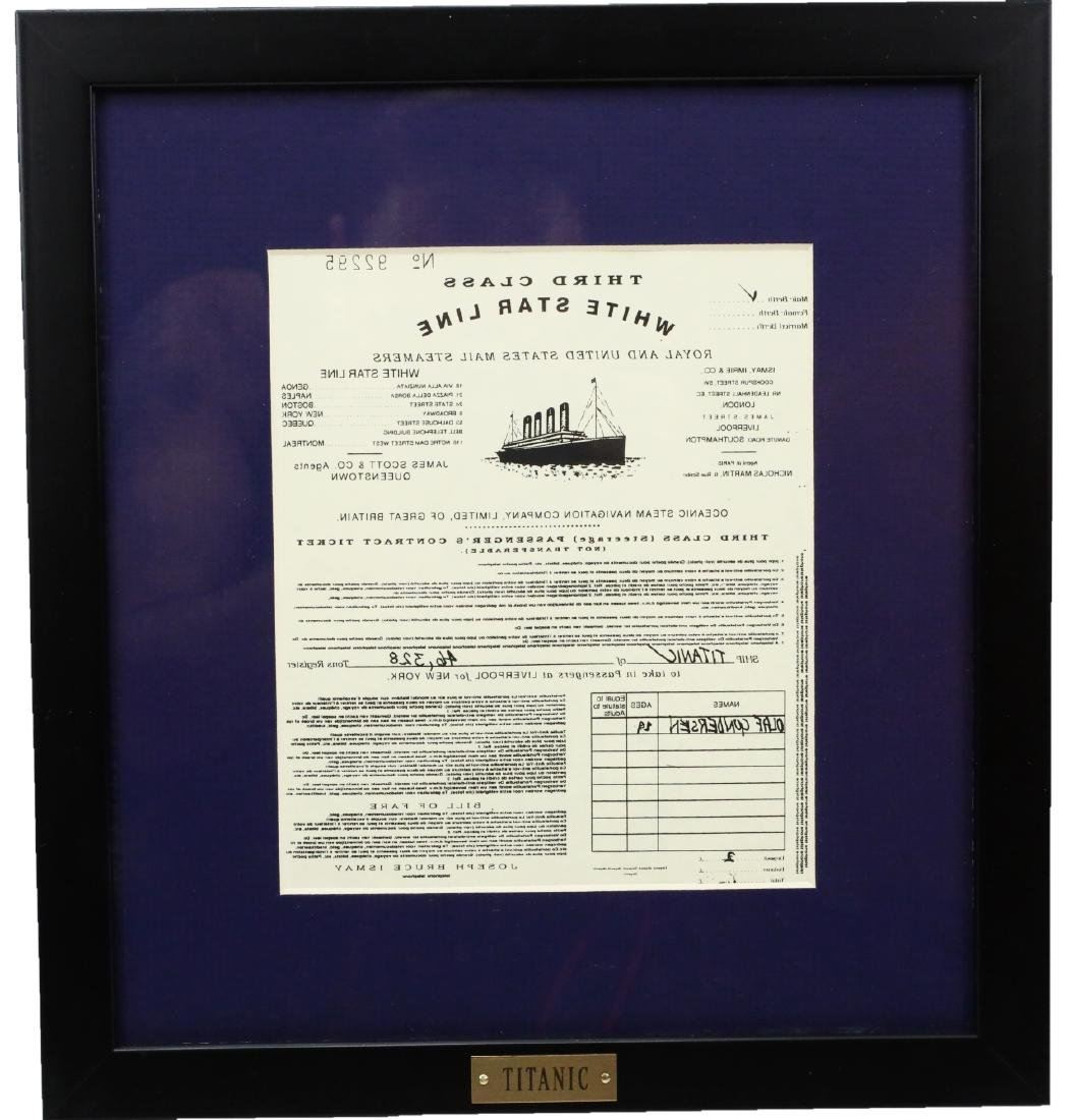 Titanic Prop Ticket Won By Jack Dawson W/COA