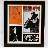 Michael Jackson Signed Sketch WPhotos  COA