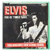 Elvis Presley Autographed 45 Vinyl Record