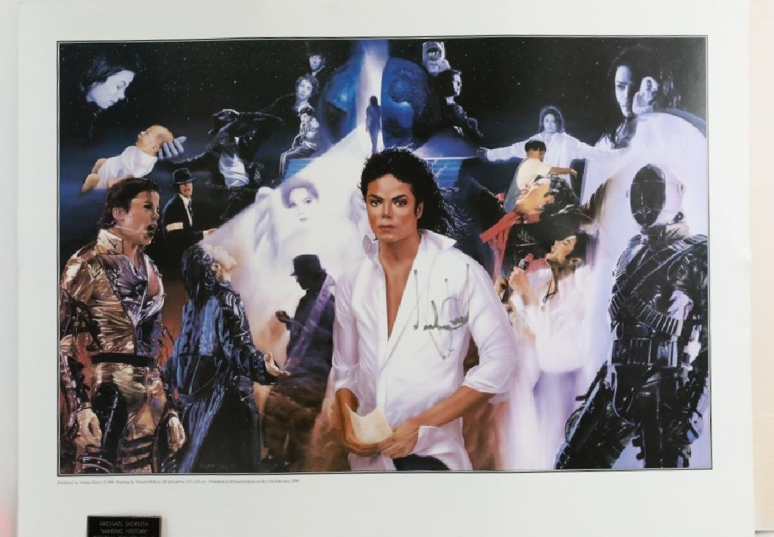 "Michael Jackson ""Making History"" Signed Print"