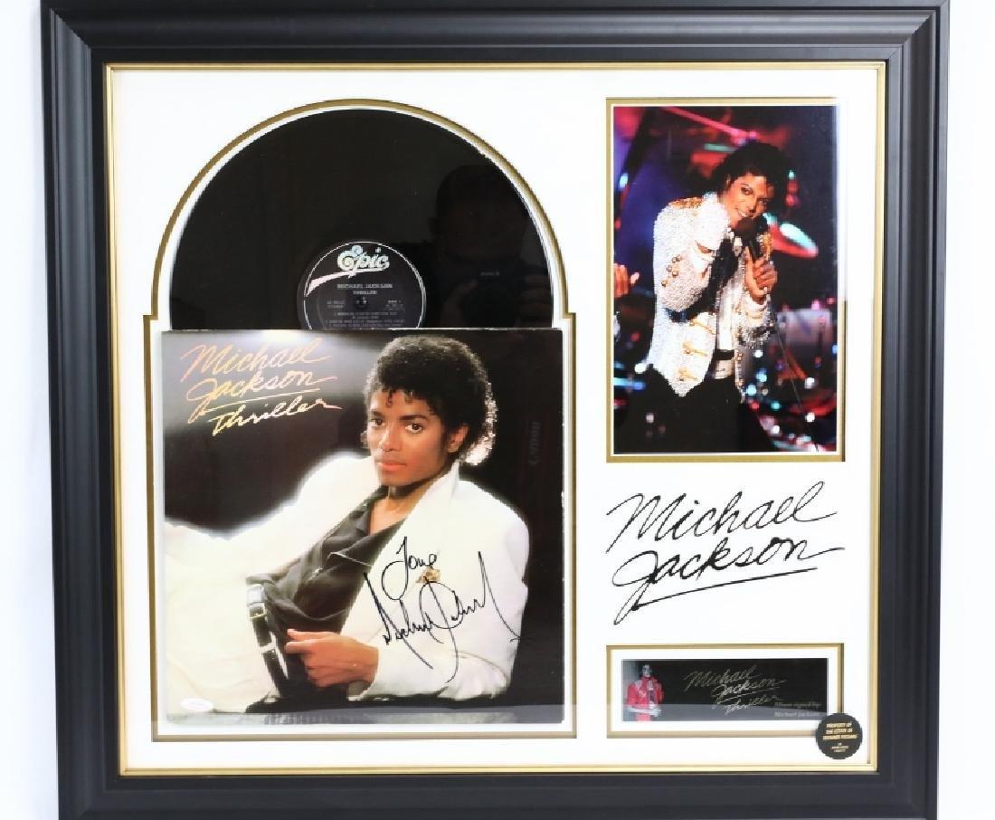 """Michael Jackson Autographed """"Thriller"""" LP W/COA"""