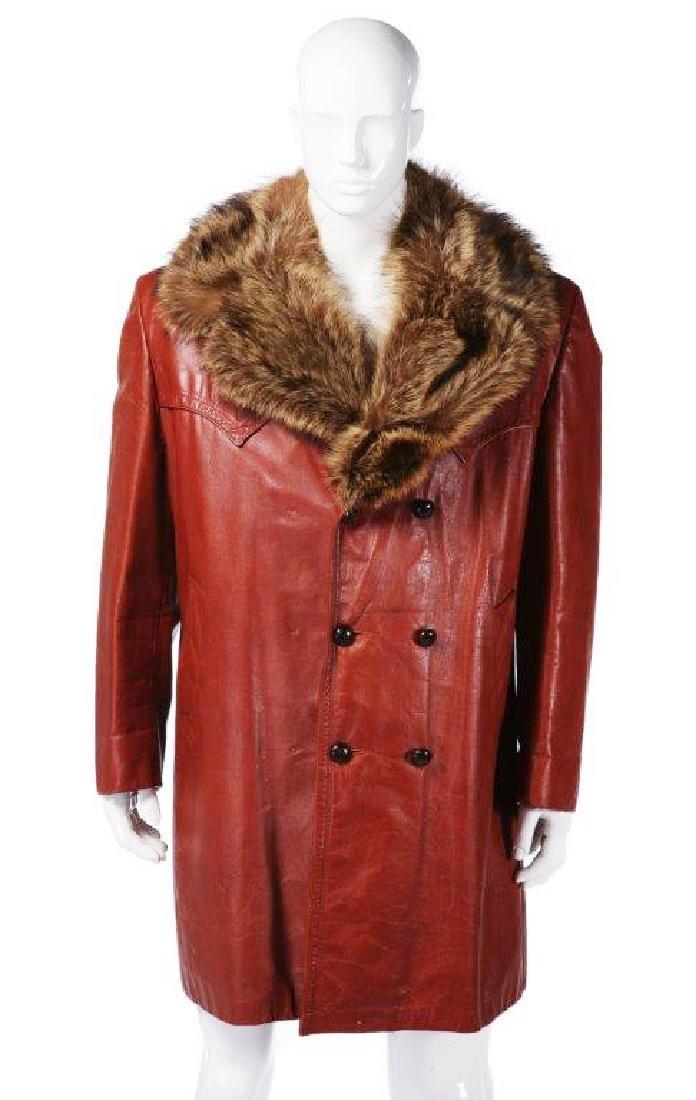 """Will Ferrell's """"Semi-Pro"""" Red Leather Coat W/COA"""
