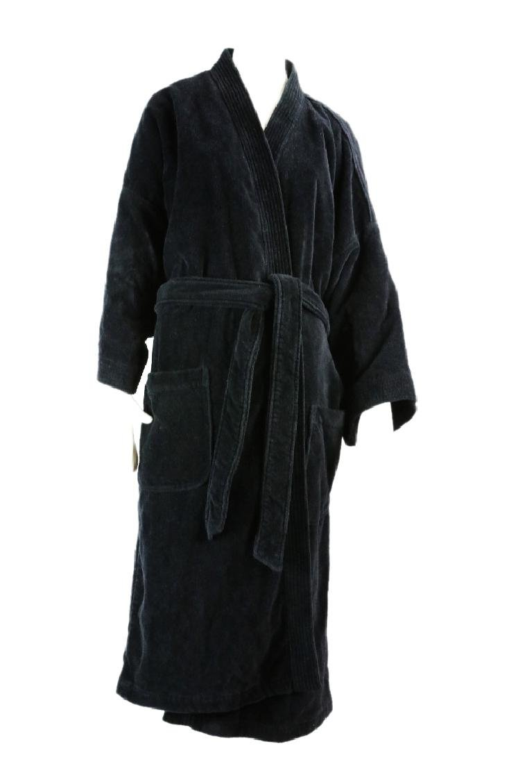 Michael Jackson's Black Saks Fifth Ave Robe W/COA