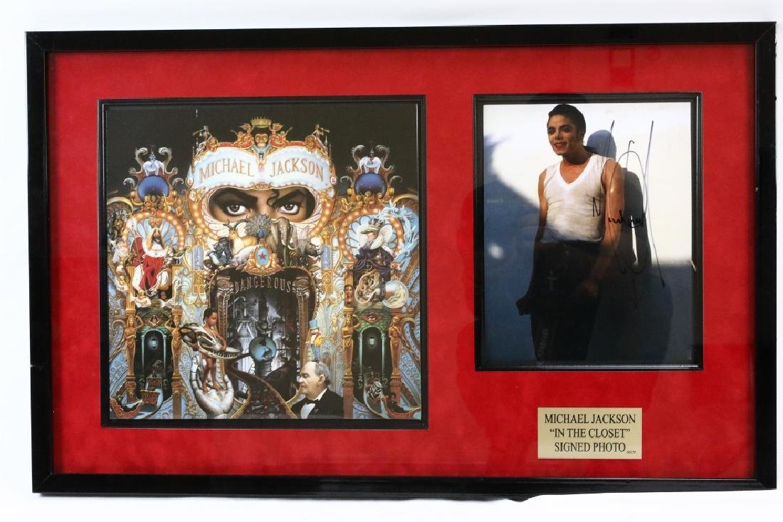 """Michael Jackson """"In The Closet"""" Signed Photo"""