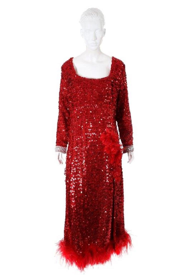 """Octavia Spencer's """"Paradise"""" Sequin Gown & Boa - 2"""