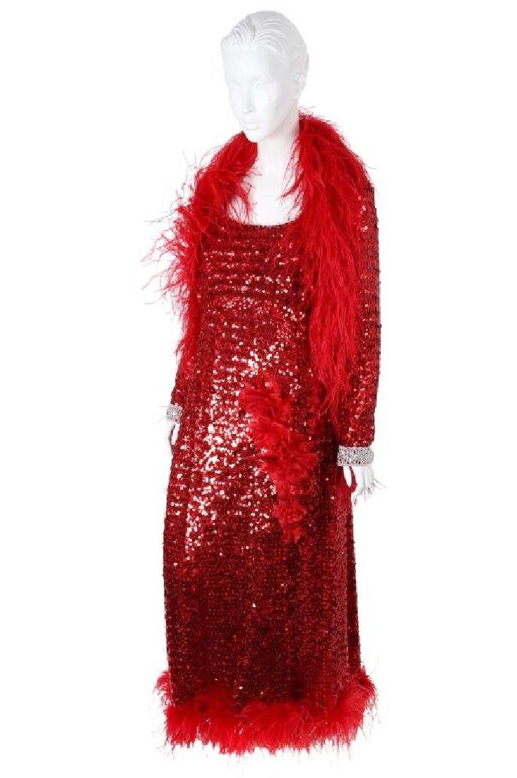 """Octavia Spencer's """"Paradise"""" Sequin Gown & Boa - 4"""