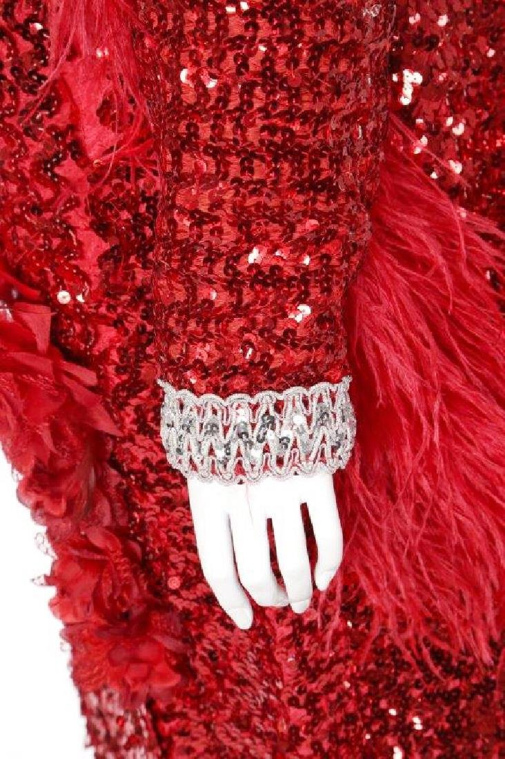 """Octavia Spencer's """"Paradise"""" Sequin Gown & Boa - 5"""