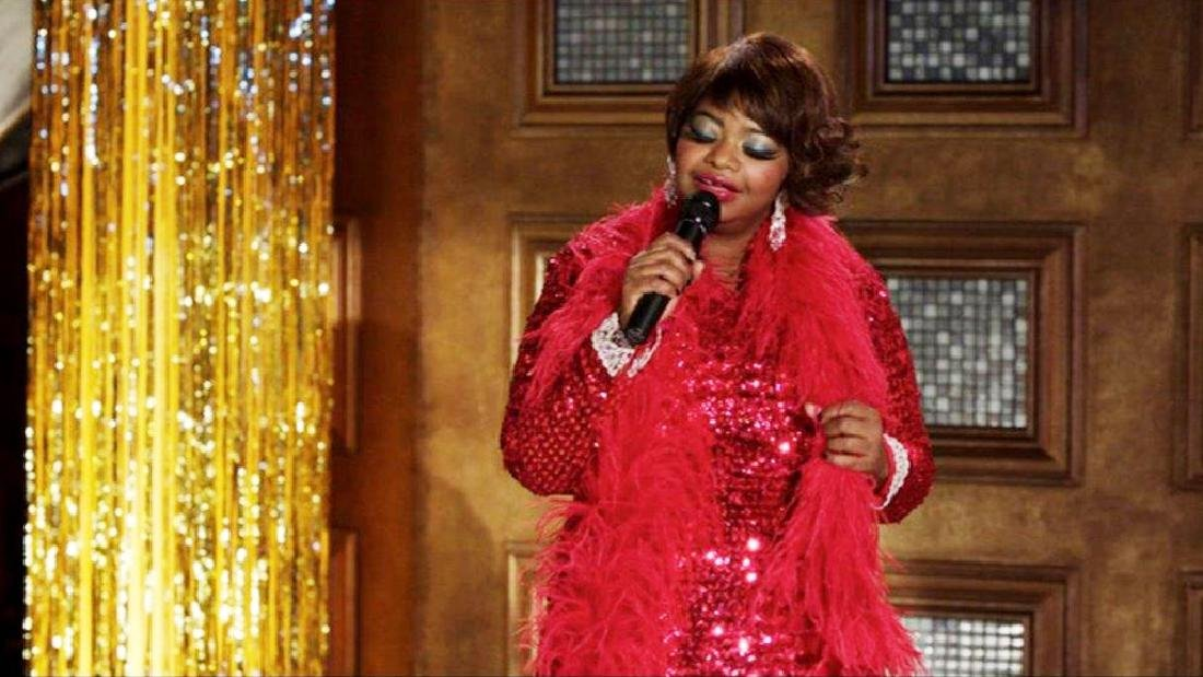 "Octavia Spencer's ""Paradise"" Sequin Gown & Boa - 9"